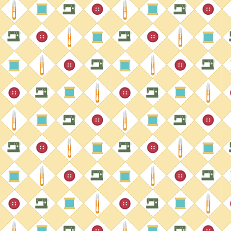 Sew Buttons fabric by jenmakesthings on Spoonflower - custom fabric