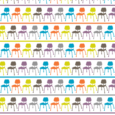Retro Chairs - stripe fabric by andibird on Spoonflower - custom fabric
