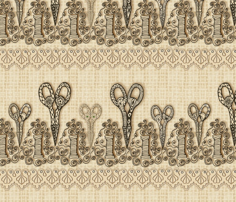 Scissors fabric by kirpa on Spoonflower - custom fabric
