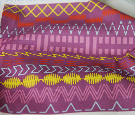 Sewing Machine Stitches on Purple