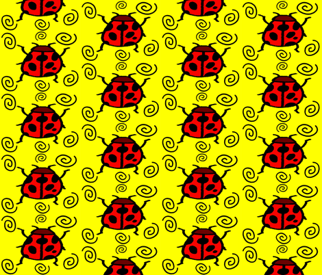 LADYBUGSWIRL fabric by bluevelvet on Spoonflower - custom fabric
