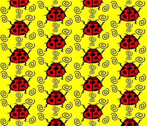 LADYBUGSWIRL fabric by bluevelvet on Spoonflower - custom fabric