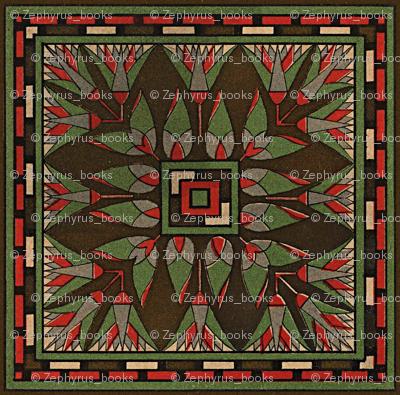 Antique Paper Design Pattern - Page 17 Square Repeat