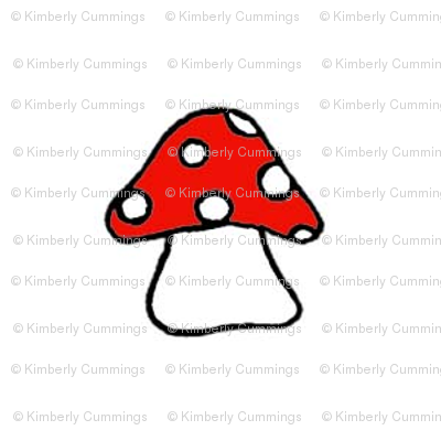 Red Toadstool on White