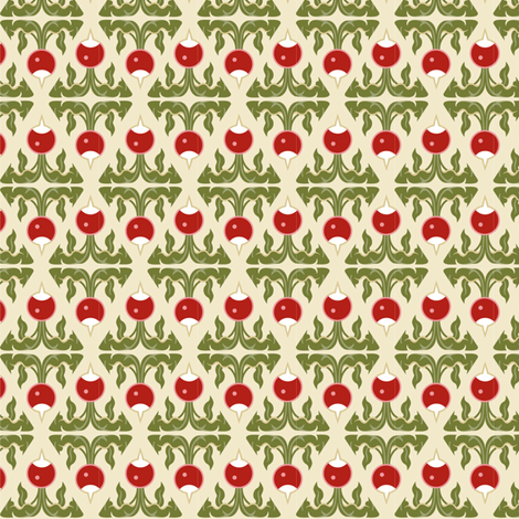 Radish red diamond fabric by cindylindgren on Spoonflower - custom fabric
