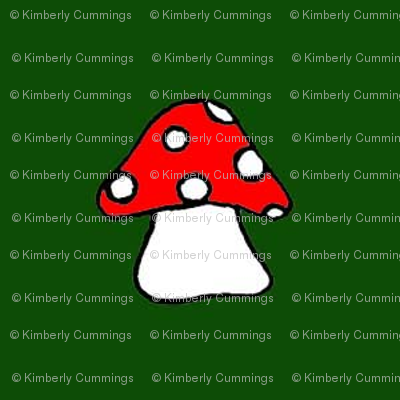 Red Toadstool on Green