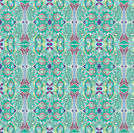 Contemplation in Teal fabric by edsel2084 on Spoonflower - custom fabric