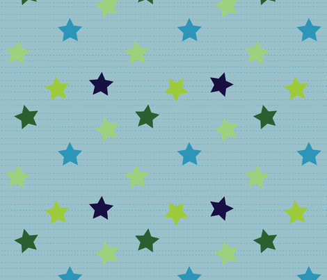 Cuteness Stars Big fabric by jenimp on Spoonflower - custom fabric