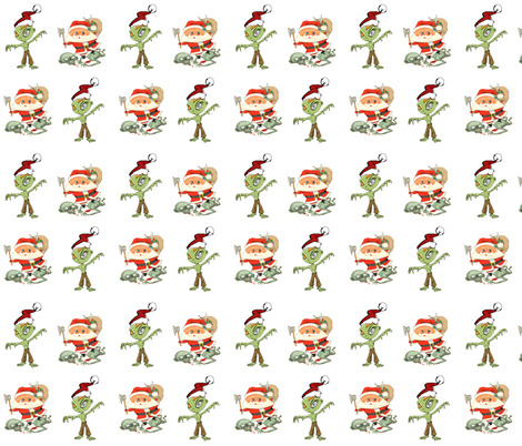 Zombie Christmas fabric by hgirl on Spoonflower - custom fabric