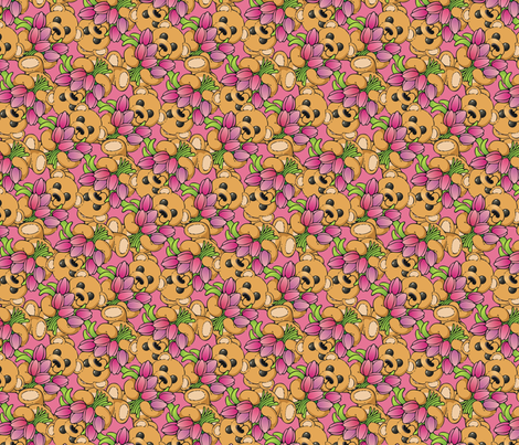 Teddy Bears and Tulips fabric by hannafate on Spoonflower - custom fabric