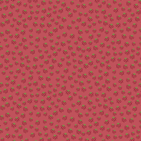 strawberries_dark fabric by owls on Spoonflower - custom fabric