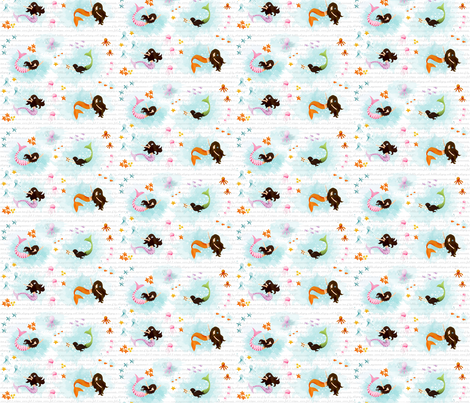 Playing with Bubboels Mixed Media fabric by natitys on Spoonflower - custom fabric