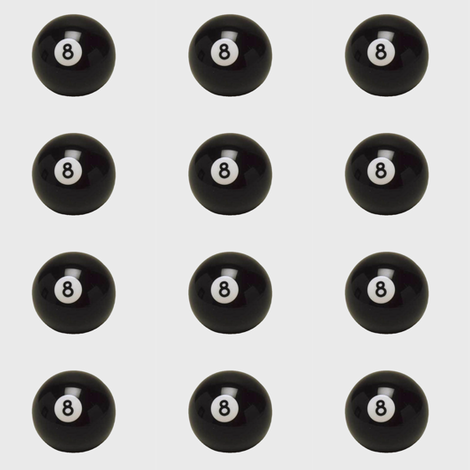 EIGHT BALL fabric by bluevelvet on Spoonflower - custom fabric