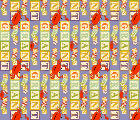 Baby Grant Alpha Blocks fabric by cksstudio80 on Spoonflower - custom fabric