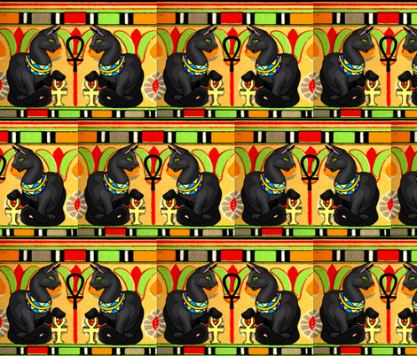 RETRO EGYPTIAN MAUS fabric by bluevelvet on Spoonflower - custom fabric