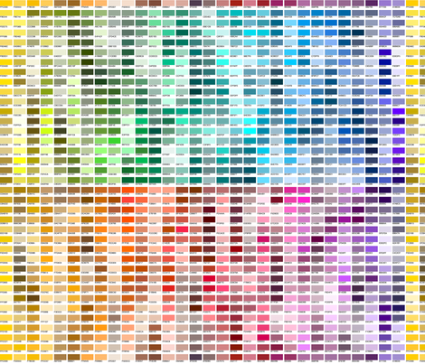 DECORATIVE COLOR SAMPLER --not my full chart! ©2012 by Jane Walker fabric by artbyjanewalker on Spoonflower - custom fabric