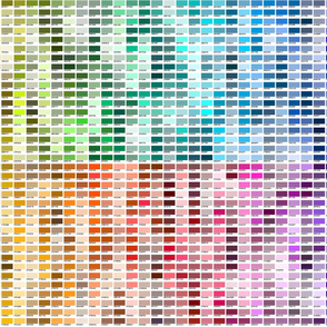 DECORATIVE COLOR SAMPLER --not my full chart! ©2012 by Jane Walker
