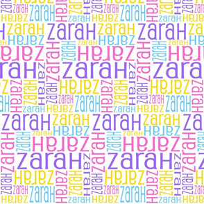 Personalised Name Fabric - Spring Colours
