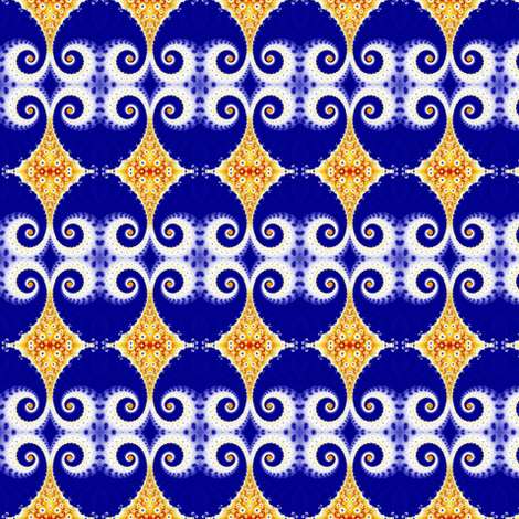 Surprise White Horns on Blue Eggs fabric by clotilda_warhammer on Spoonflower - custom fabric