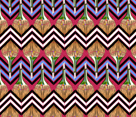 Chianti Bottle Candle Chevron fabric by glimmericks on Spoonflower - custom fabric