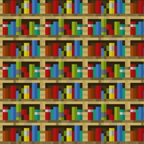 Pixelated Bookshelves - Medium