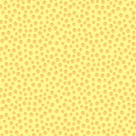 strawberries_lemon fabric by owls on Spoonflower - custom fabric