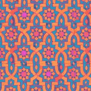 marakesh orangebluepink