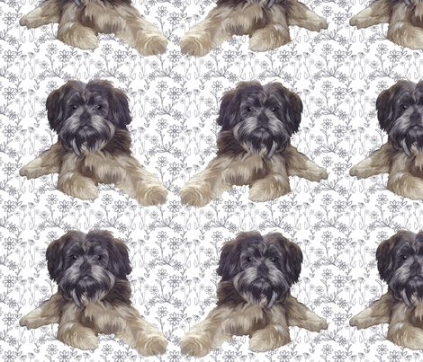 Affenpinscher fabric by dogdaze_ on Spoonflower - custom fabric