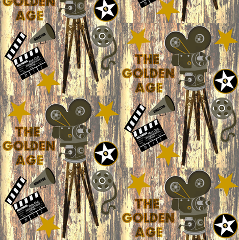 The Golden Age / wood fabric by paragonstudios on Spoonflower - custom fabric