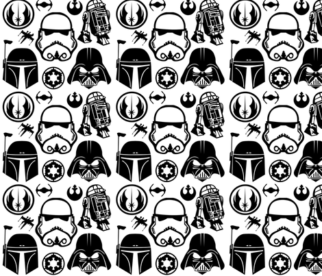 StarWars fabric by ninjaauntsdesigns on Spoonflower - custom fabric