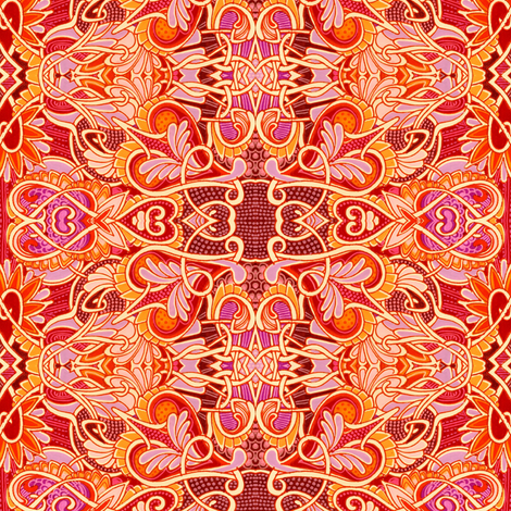 Hearts of Fire (My Tangled Valentine) fabric by edsel2084 on Spoonflower - custom fabric