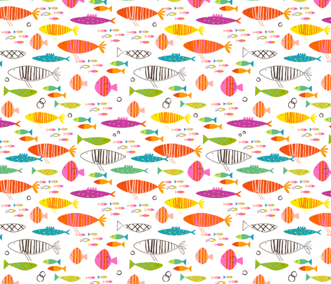 Rainbow Fish fabric by redfish on Spoonflower - custom fabric