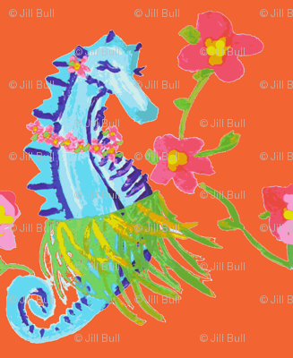 Seahorse Hula (acrylic) -ch