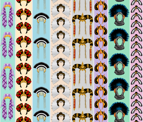 Queen Amidalas Headdresses - Stripes - Large fabric by bonnie_phantasm on Spoonflower - custom fabric