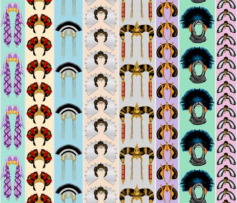 Queen Amidalas Headdresses - Stripes - Large fabric by bonnie_phantasm on Spoonflower - custom fabric
