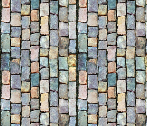 Cobblestones vertical fabric by omahaha on Spoonflower - custom fabric