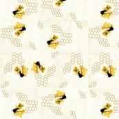 watercolor Beehive fabric