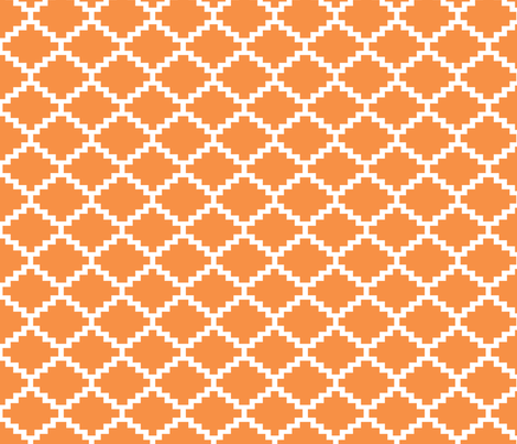 RickRack_tangerine fabric by walrus_studio on Spoonflower - custom fabric
