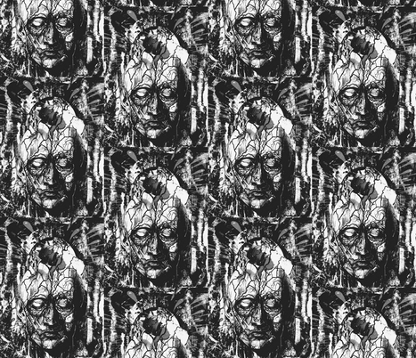 Mode du Macabre fabric by whimzwhirled on Spoonflower - custom fabric