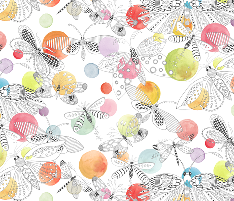 Dappled Migration fabric by kayajoy on Spoonflower - custom fabric