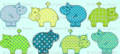 Hippo Birdie in the line