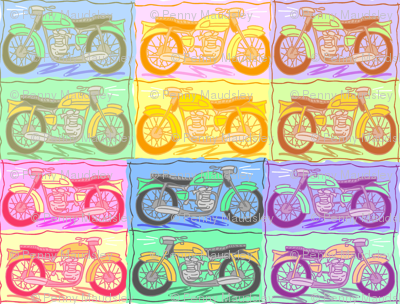 MOTORCYCLE MADNESS CHEATER QUILT