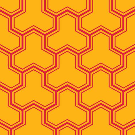 Bishamon Kikko (Red +) fabric by nekineko on Spoonflower - custom fabric