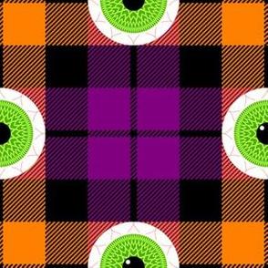 tartan - seasonal - halloween eyeballs