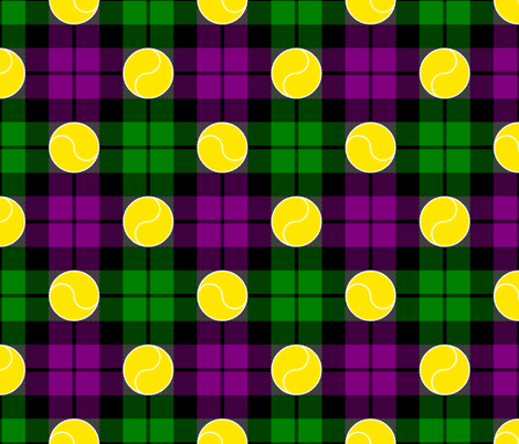 tartan - seasonal - tennis fabric by sef on Spoonflower - custom fabric
