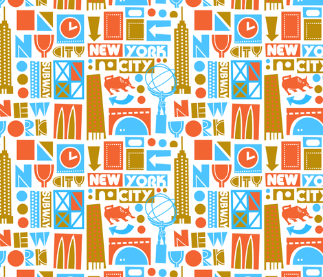 NYC fabric by edmillerdesign on Spoonflower - custom fabric