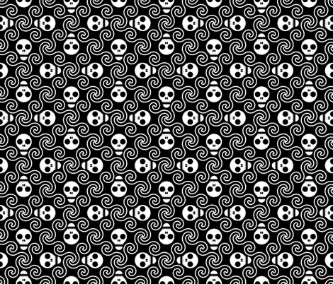 skulls of the deep fabric by sef on Spoonflower - custom fabric