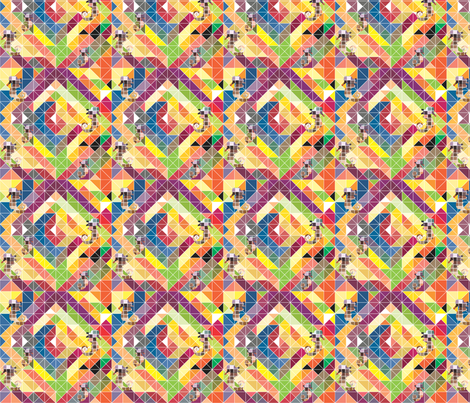 Geometric Seahorses fabric by annalisa222 on Spoonflower - custom fabric