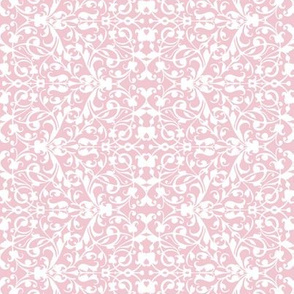 Floral pink lace swirl