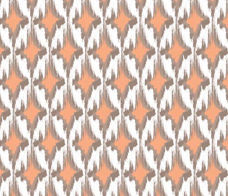 Kin (Peach) fabric by einekleinedesignstudio on Spoonflower - custom fabric